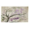 Manual Woodworkers & Weavers Lavender and Sage Flourish Cream Area Rug