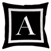 Manual Woodworkers & Weavers Classic Block Monogram Polyester Throw Pillow