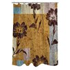 Manual Woodworkers & Weavers Floral Study in Blocks Shower Curtain