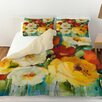 Manual Woodworkers & Weavers Flower Power 1 Duvet Cover