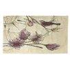 Manual Woodworkers & Weavers Rosette Bird Tan/Purple Area Rug