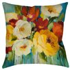 Manual Woodworkers & Weavers Flower Power 1 Printed Throw Pillow
