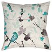 Manual Woodworkers & Weavers Flowing Florals Printed Throw Pillow
