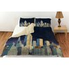 Manual Woodworkers & Weavers Midnight in Midtown Duvet Cover Collection