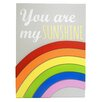 "ConceptsInTime ""You are my Sunshine"" 3D Rainbow Wall Plaque"