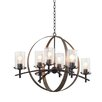 Kalco Irvine 8 Light Candle Chandelier