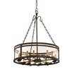 Kalco Morris 12 Light Chandelier with Glass Shade