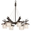 Kalco Nijo 6 Light Candle Chandelier