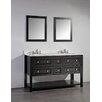 "Legion Furniture 60"" Double Bathroom Vanity Set with Mirror"