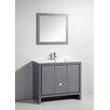 "Legion Furniture 39"" Solid Wood Single Sink Vanity with Mirror"