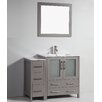 "Legion Furniture 42"" Single Solid Wood Bathroom Vanity Set with Mirror"