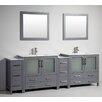 "Legion Furniture 96"" Double Bathroom Vanity Set with Mirror"