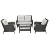 NFusion Savona 4 Piece Seating Group with Cushions