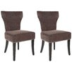 Safavieh Calhoun Solid Birch Upholstered Dining Chair (Set of 2)