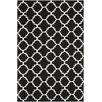 Safavieh Dhurrie Hand-Woven Black/Ivory Area Rug