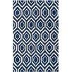 Safavieh Handgetufteter Teppich Evans in Dunkelblau/Elfenbein