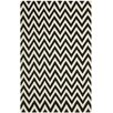 Safavieh Dhurrie Black/White Area Rug