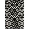 Safavieh Handgefertigter Teppich Dhurrie in Schwarz/Elfenbein