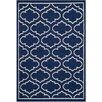Safavieh Handgewebter Innenteppich Dhurrie in Blau