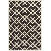 Safavieh Handgefertigter Teppich Dhurrie in Braun/Elfenbein