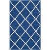 Safavieh Handgewebter Teppich Dhurrie Taza in Blau