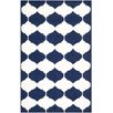 Safavieh Dhurrie Hand-Woven Navy/Ivory Area Rug