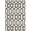 Safavieh Dhurrie Hand-Woven Ivory/Charcoal Area Rug