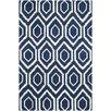 Safavieh Handgetufteter Teppich Evans in Dunkelblau