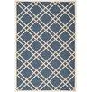Safavieh Handgewebter Außenteppich in Elfenbein/Blau