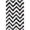Safavieh Handgetufteter Teppich Barcelona in Weiß/Schwarz