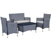 Safavieh Lugano 4 Seater Sofa Set with Cushions