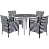 Safavieh Amalfi Outdoor 5 Piece Dining Set