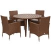 Safavieh Mystique Outdoor 5 Piece Dining Set