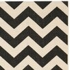 Safavieh Black/Beige Indoor/Outdoor Area Rug