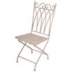 EsschertDesign Aged Metal Folding Dining Side Chair
