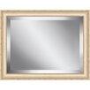 Ashton Wall Décor LLC Bisque Framed Beveled Plate Glass Mirror