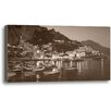 Ashton Wall Décor LLC Amalfi Lights by Rod Chase Photographic Print on Wrapped Canvas in Sepia