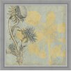 Ashton Wall Décor LLC In Bloom 'Shadow Floral I' Framed Painting Print