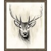 Ashton Wall Décor LLC Wildlife and Lodge 'Timberland Animals I' Framed Painting Print