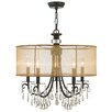 crystorama broche 8 light antique gold chandelier allmodern. Black Bedroom Furniture Sets. Home Design Ideas