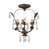Crystorama Paris Flea Market 3 Light Mini Chandelier