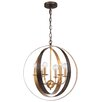 Crystorama Luna 6 Light Candle Chandelier