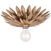 Crystorama Broche 1 Light Semi Flush Mount