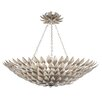 Crystorama Broche 6 Light Semi Flush Mount