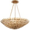 Crystorama Broche 8 Light Antique Gold Chandelier