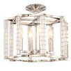 Crystorama Carson 4 Light Semi-Flush Mount