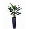 Creative Branch Faux Spathiphyllum Floor Plant in Planter