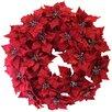 "Dyno Seasonal Solutions 24"" Christmas Poinsettia Wreath"