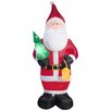 Gemmy Industries Airblown Inflatables Projection Kaleidoscope Old World Santa