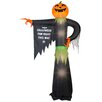 Gemmy Industries Airblown Inflatables Pointing Pumpkin with Halloween Sign